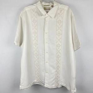 Cubavera Embroidered Button Down Men's Shirt